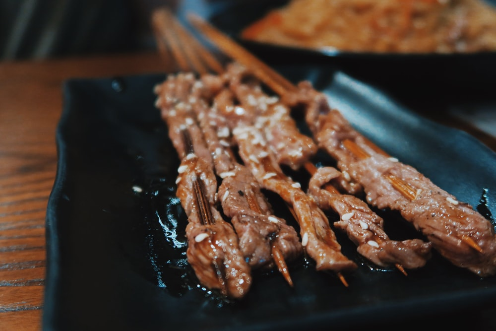 barbecue in sticks