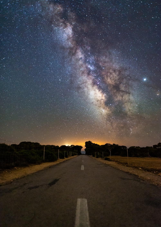 Milky Way galaxy at night sky