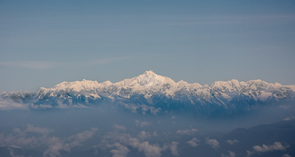 photography of snow-capped mountain during daytime