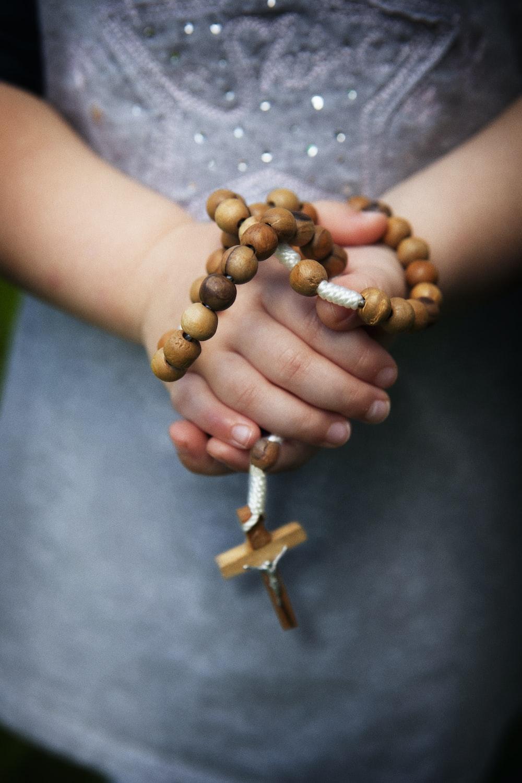 brown rosary