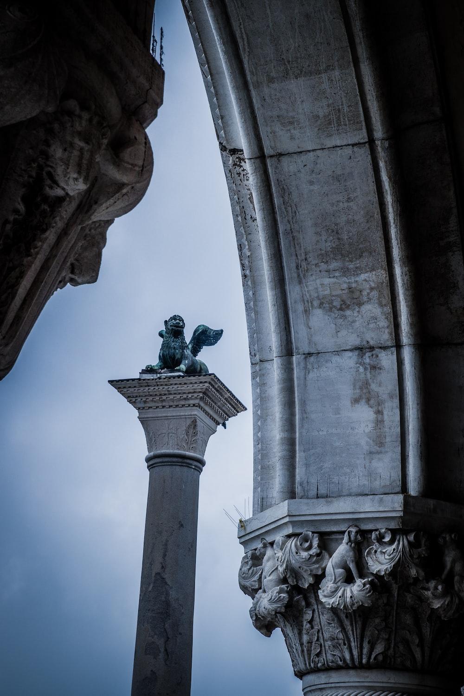 column through arch ceiling