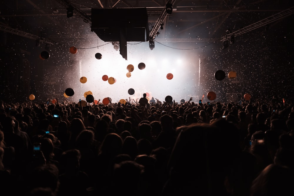 people near stage