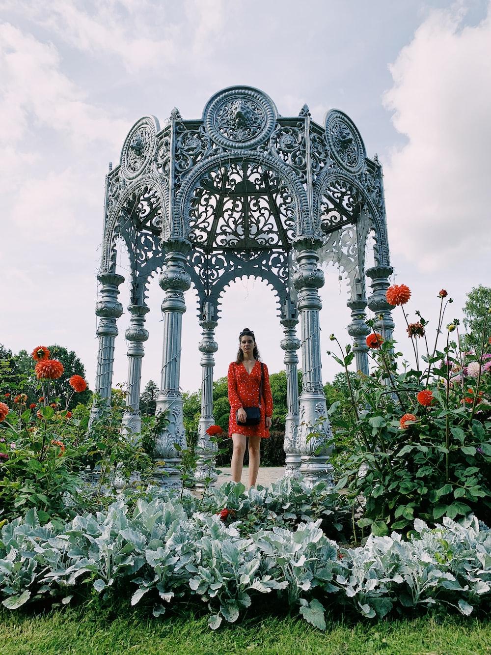 woman near garden