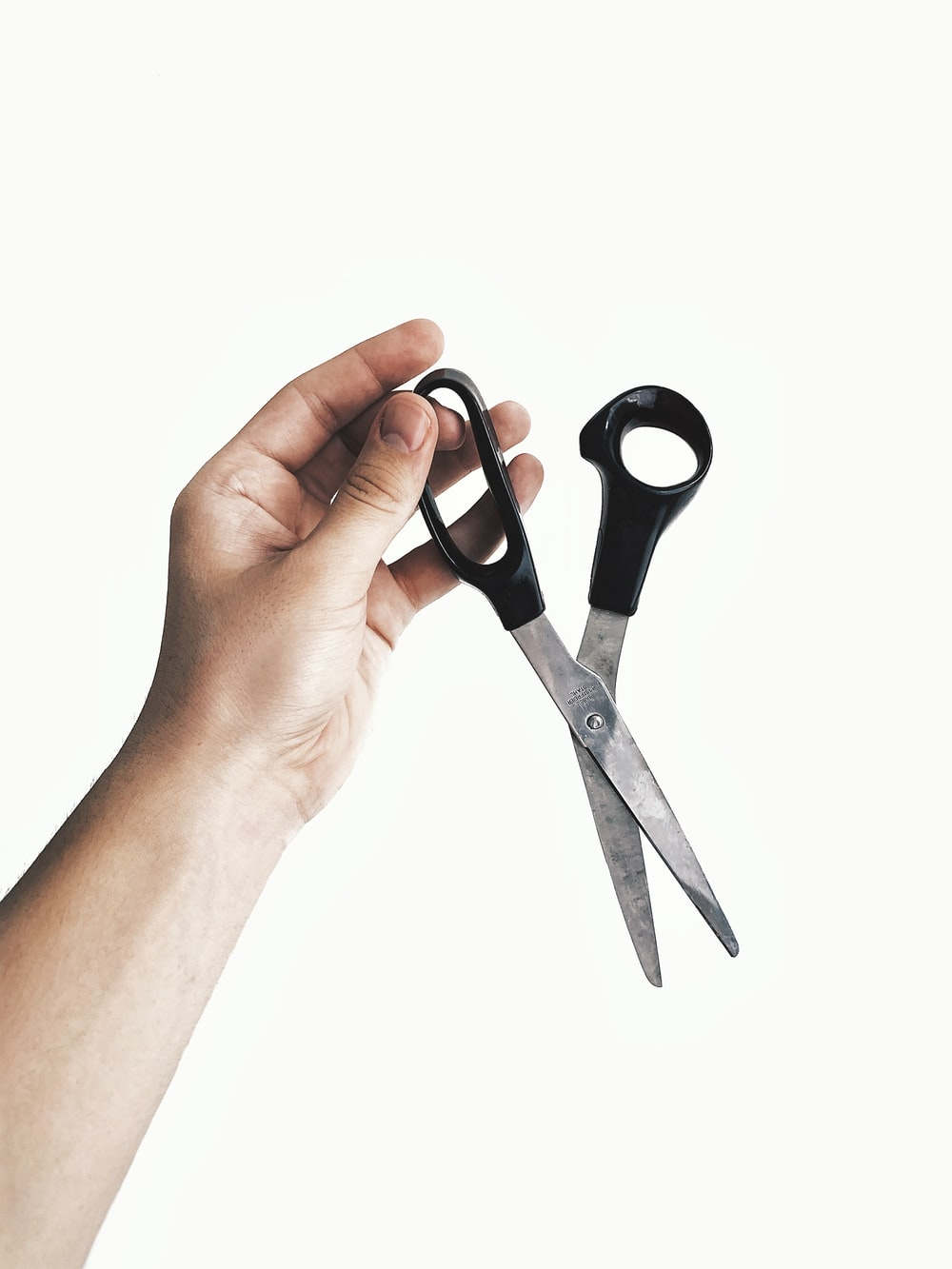 black handle scissors