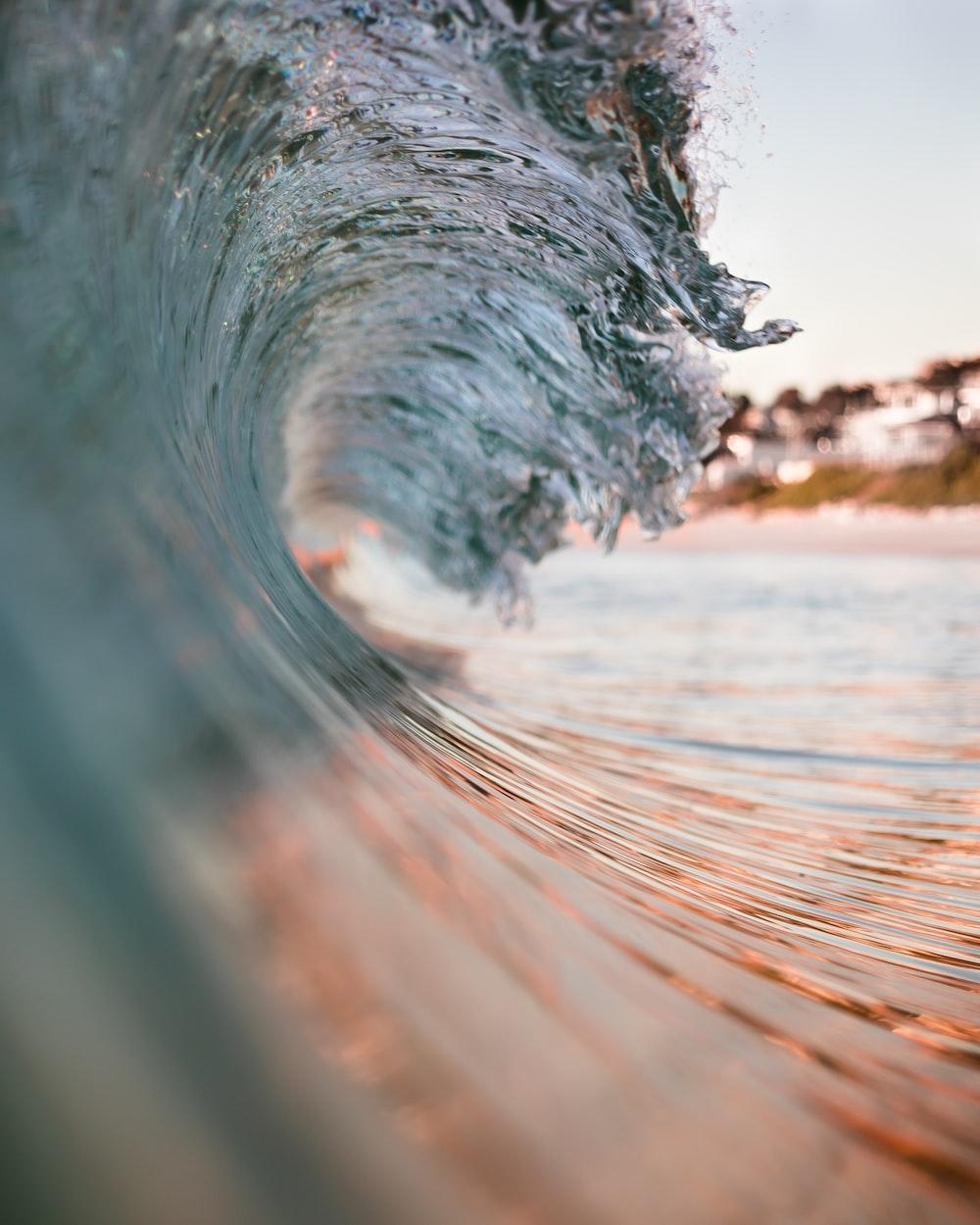 closeup photo of sea wave