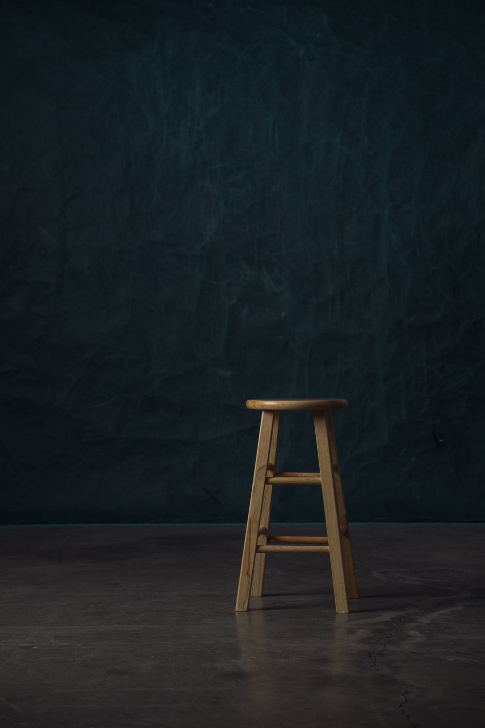 brown wooden stool