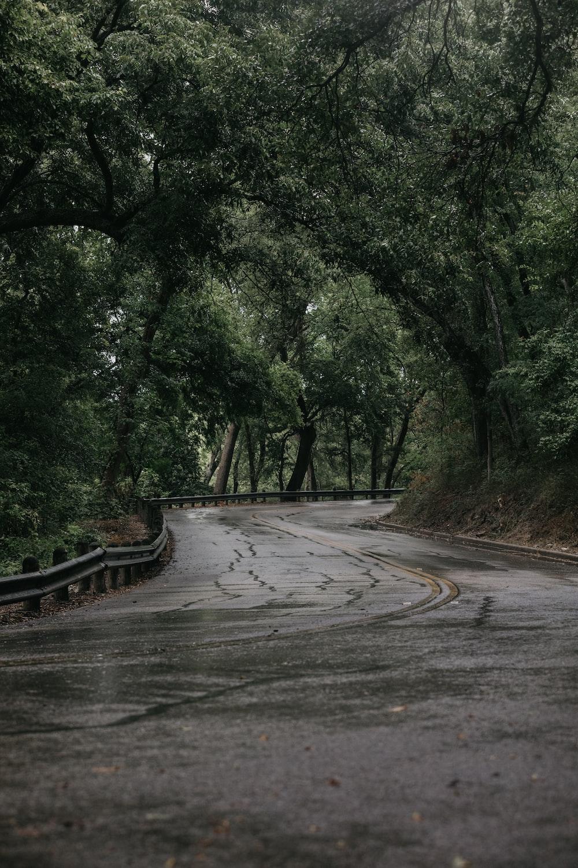 grey concrete road