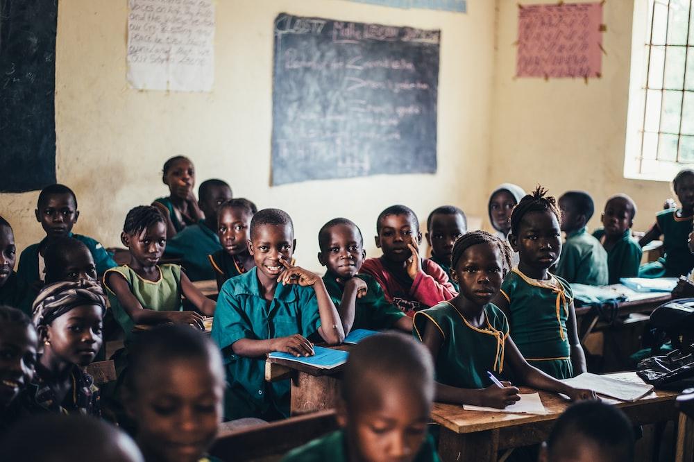 group of children inside room