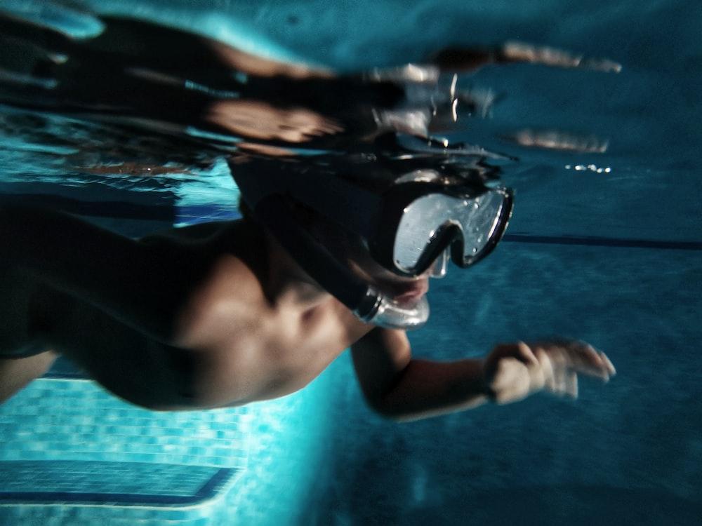unknown person swimming