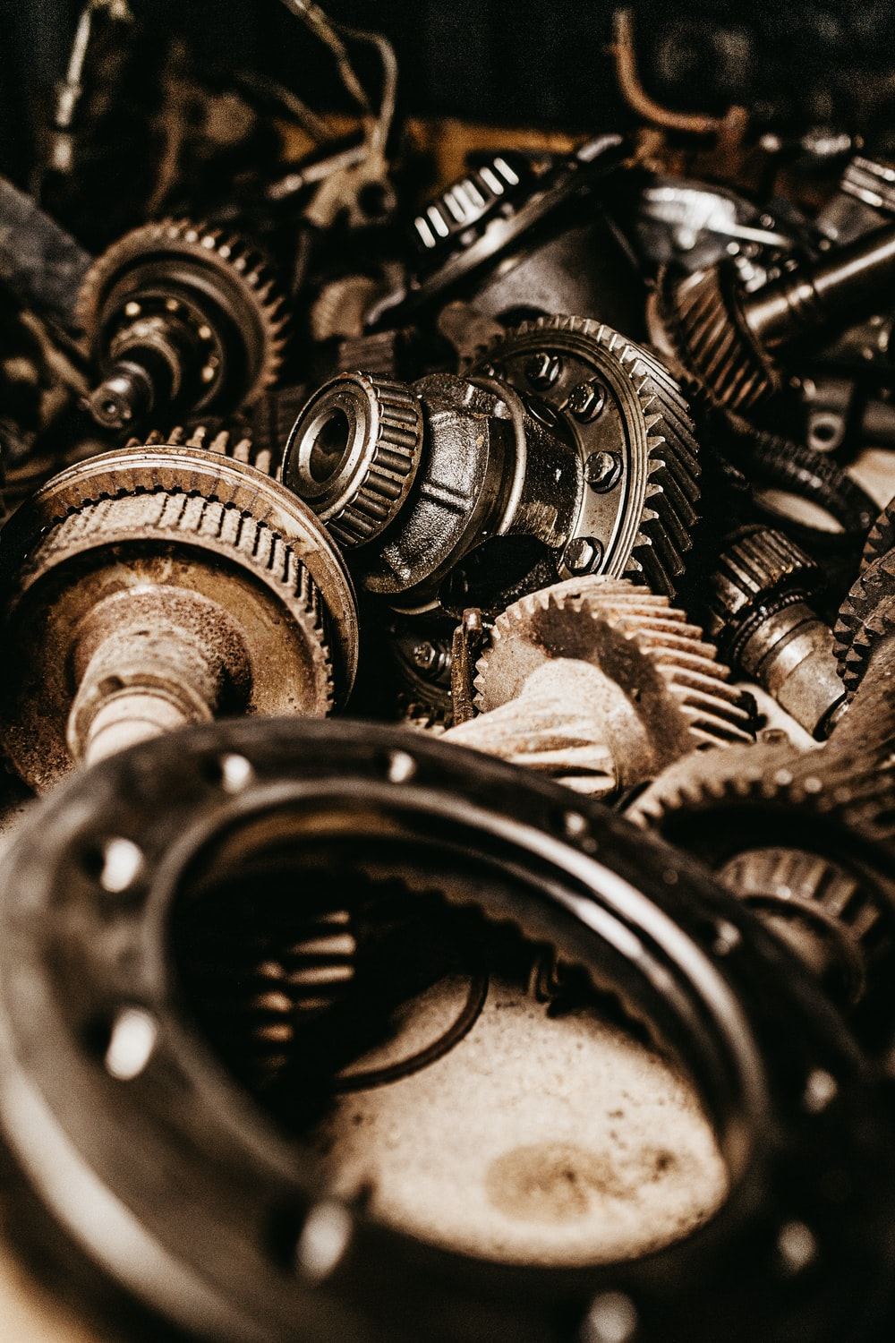 assorted gears macro photography