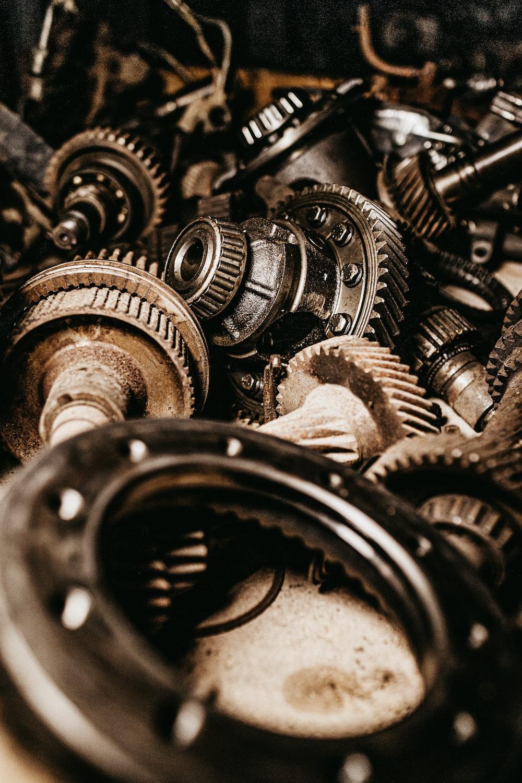 assorted gears macro photography