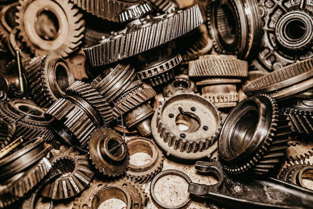 gray metal gear lot