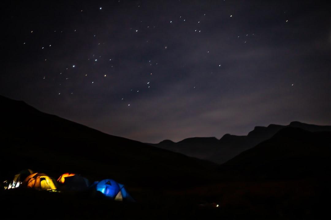 Camping in Giants Castle Reserve, Drakensberg