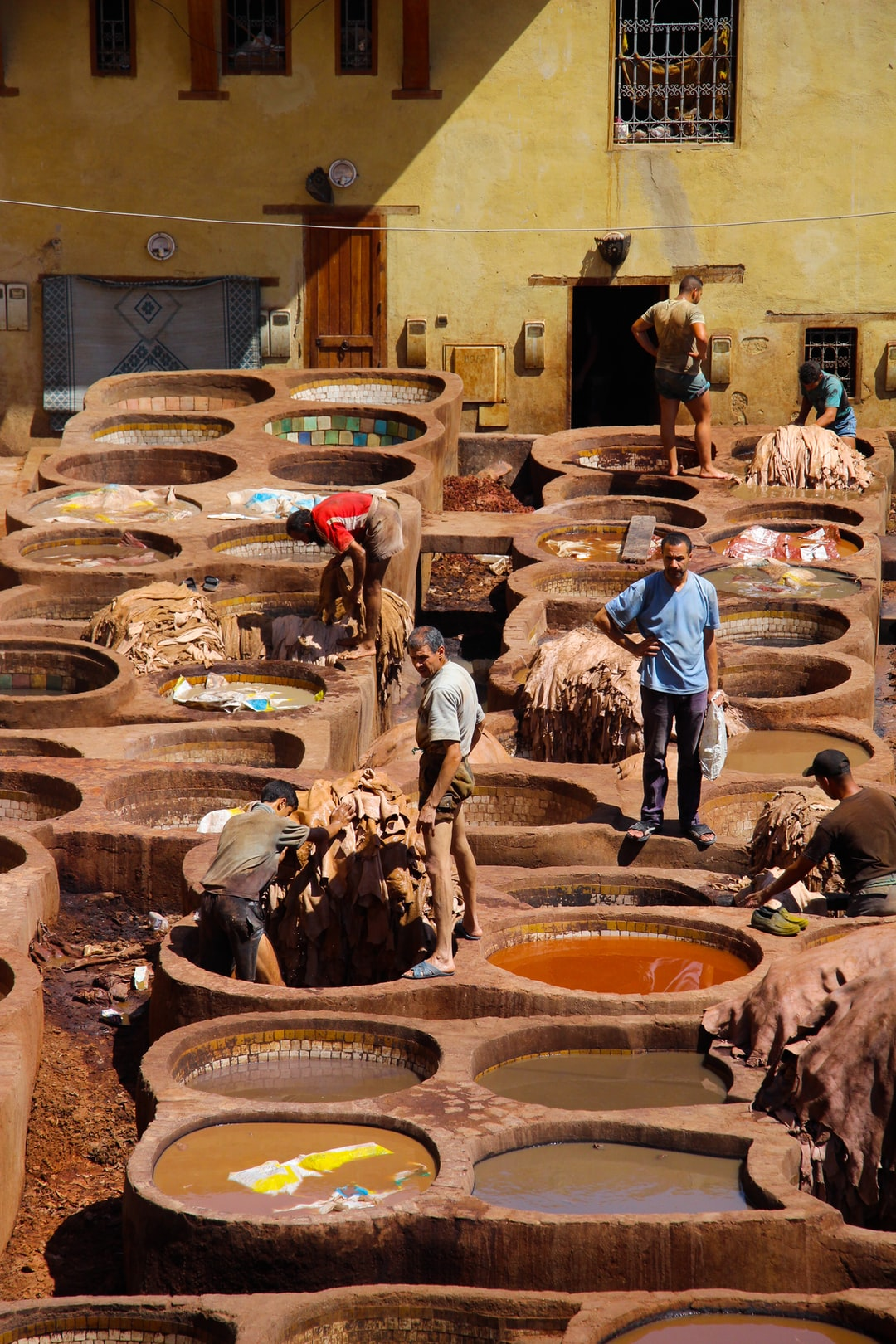 The typical tanners from Morocco