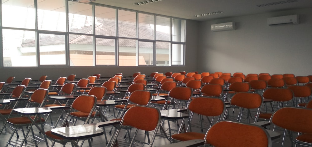 photo of orange chairs