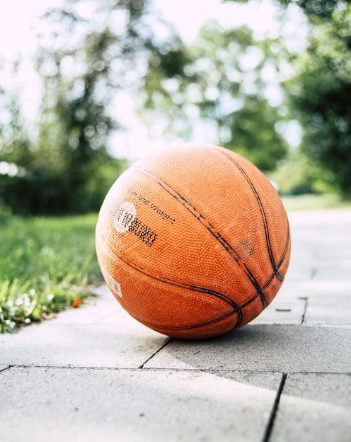 close-up of basketblal