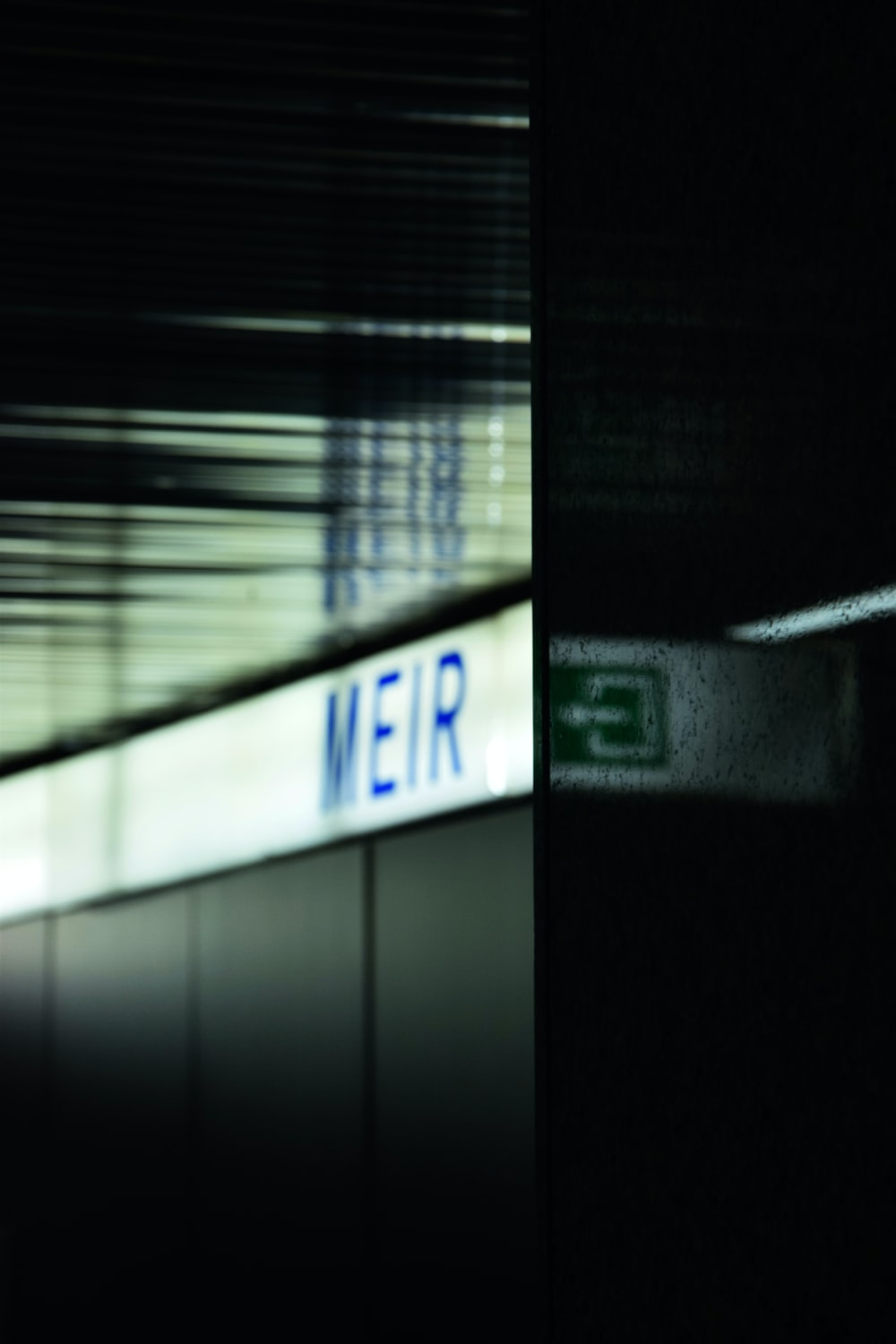 MEIR sign with lights