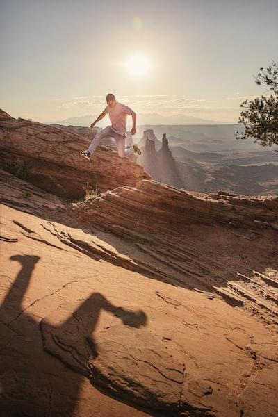 The Big Trip | Jumping around Canyonlands National Park - Explore more at explorehuper.com/the-big-trip