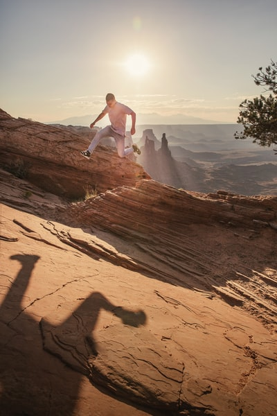 The Big Trip | Jumping around Canyonlands National Park - Explore more at explorehuper.com/the-big-trip