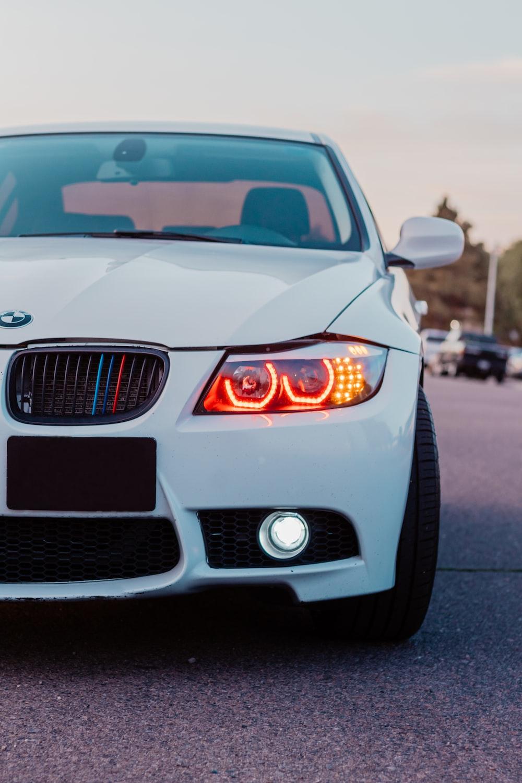 white BMW vehicle