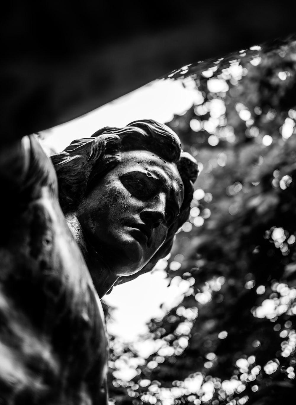 man's statue