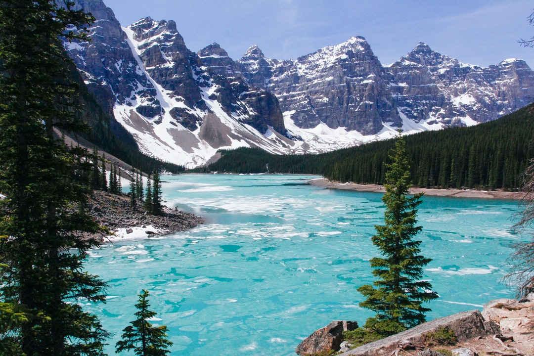 Spring melts the ice to mark the change of season at Lake Moraine.