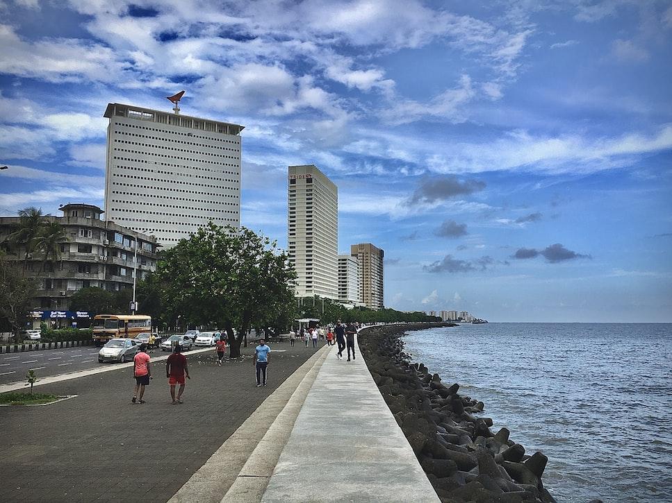 The marine drive in Mumbai