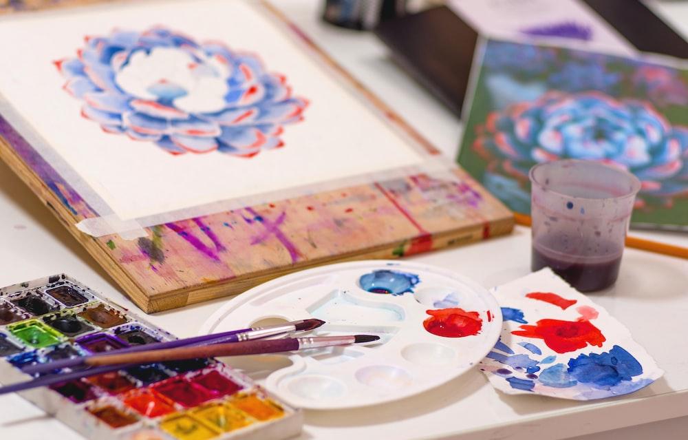 paintbrush on table
