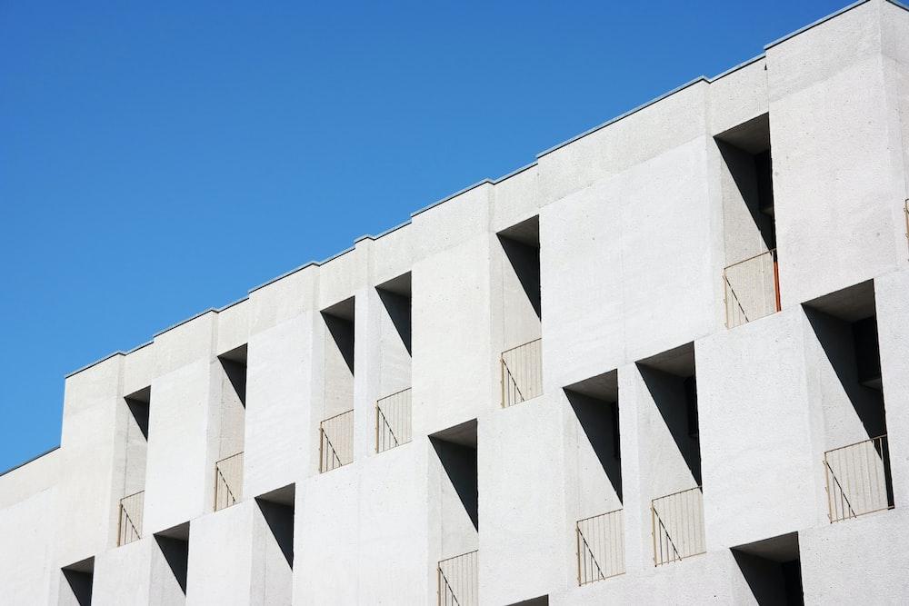 white painted concrete building