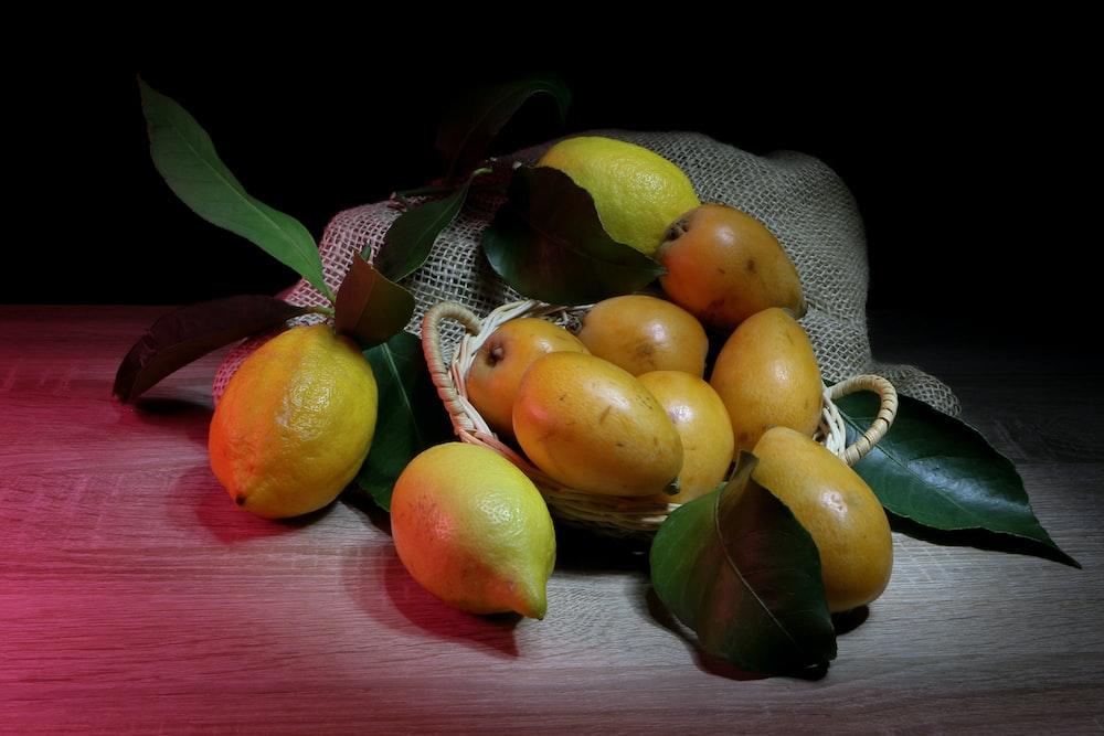 bunch of yellow fruits