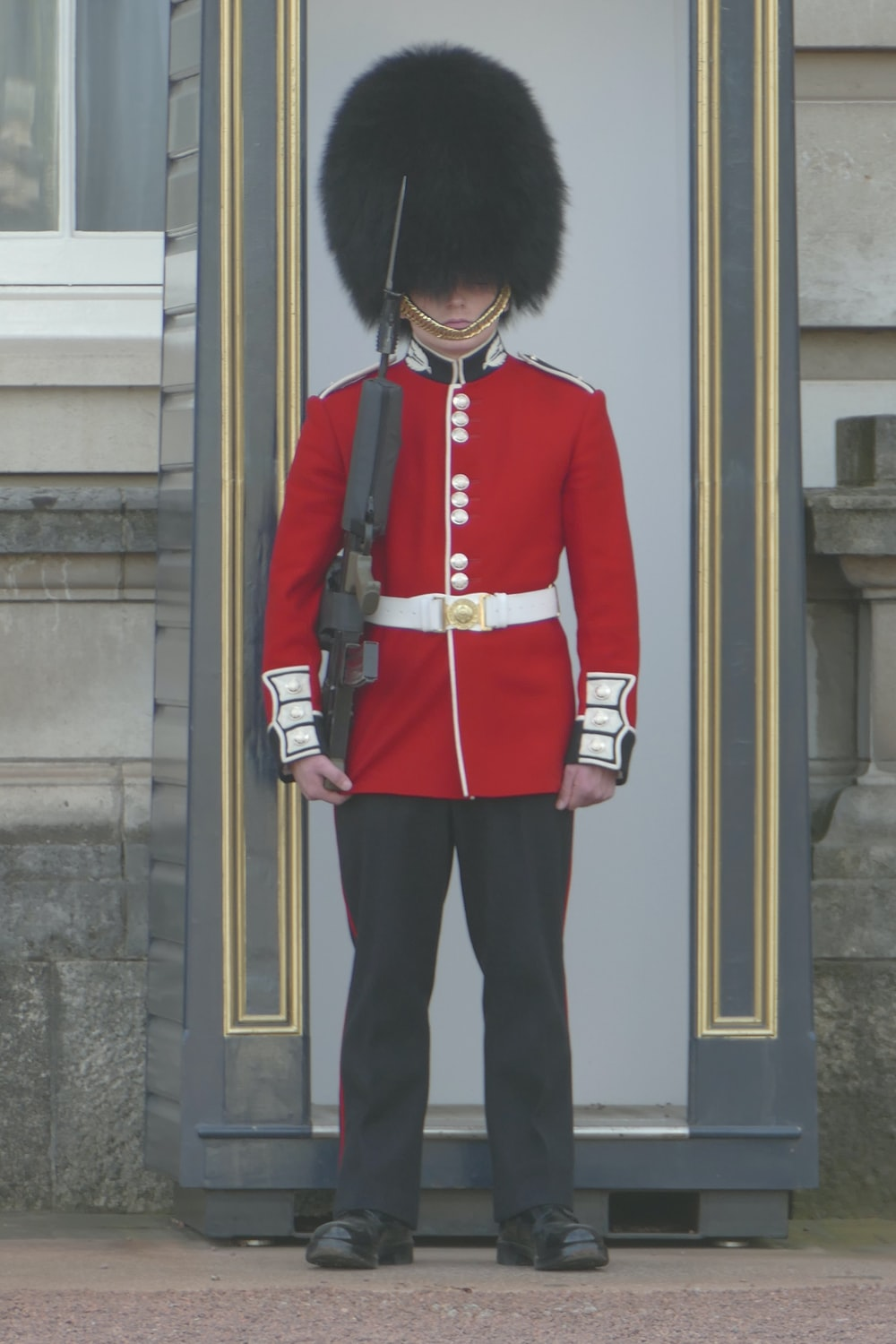 soldier in red suit