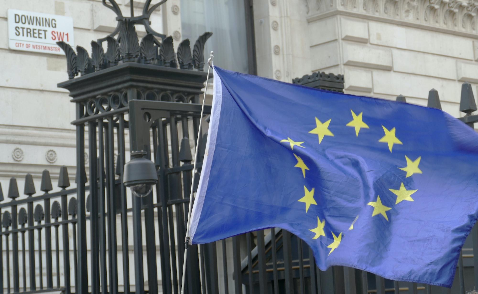 European flag at Downing Street