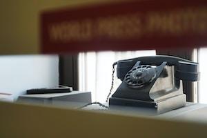 gray telephone