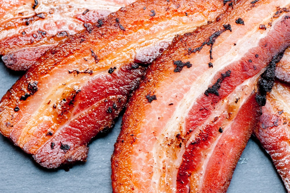cooked bacon strip