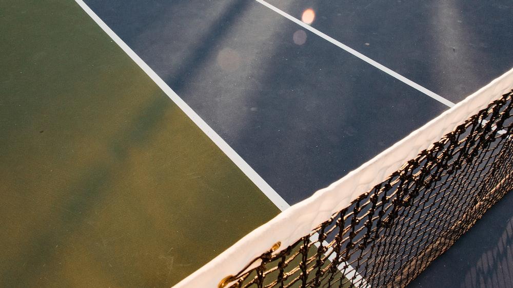 white and black tennis net
