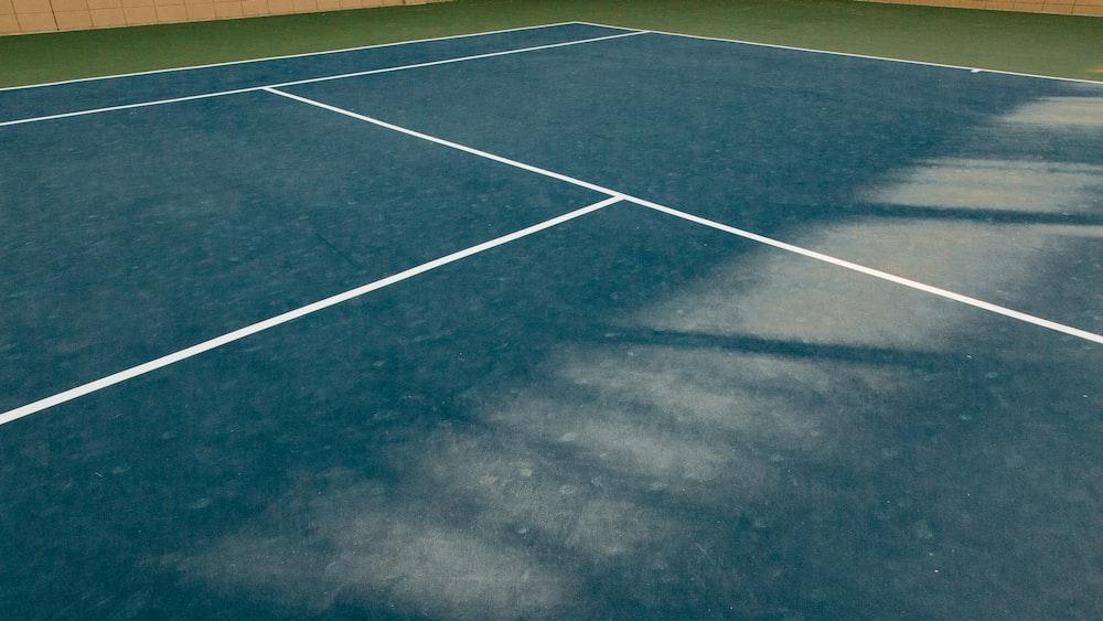 blue sports field
