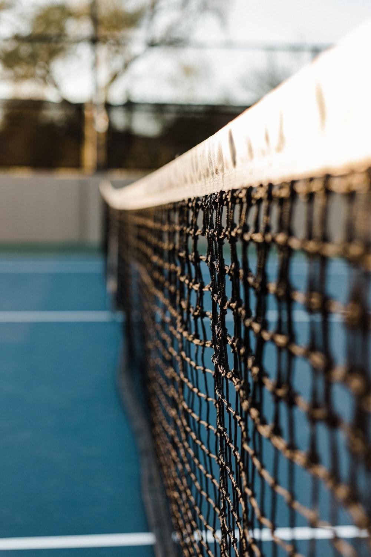 black and white badminton net