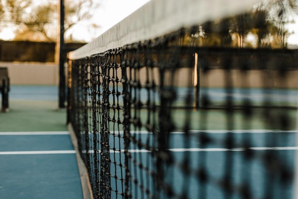 white and black badminton net