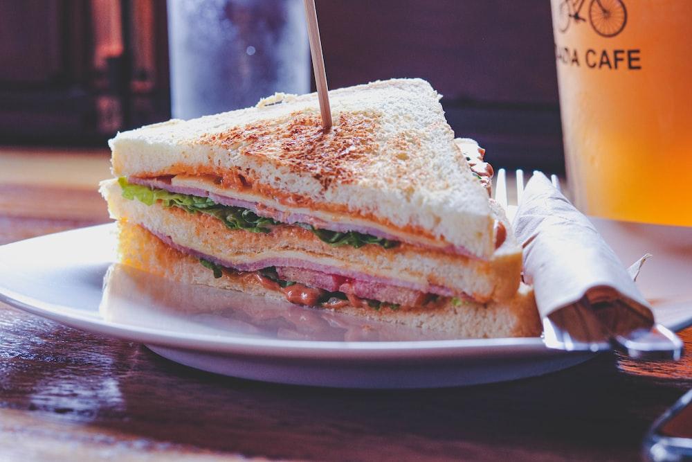triangle slice of a ham sandwich