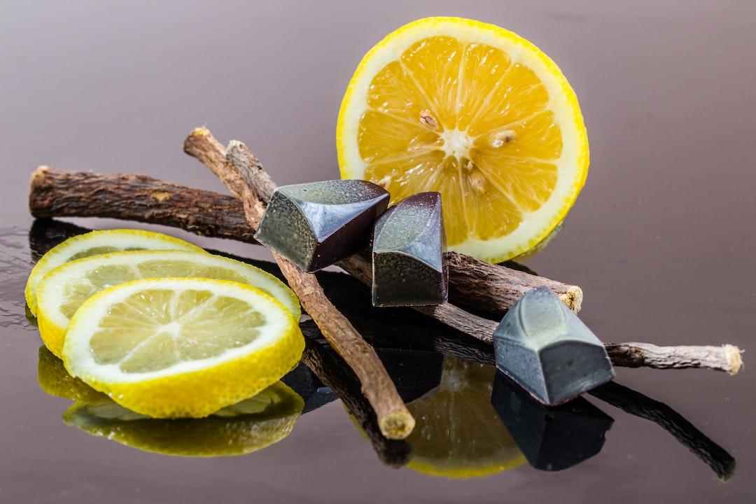Lemon and licorice bonbons