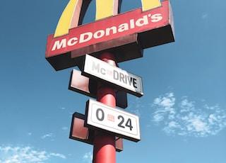 McDonald's sign post