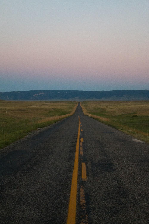 straight asphalt road