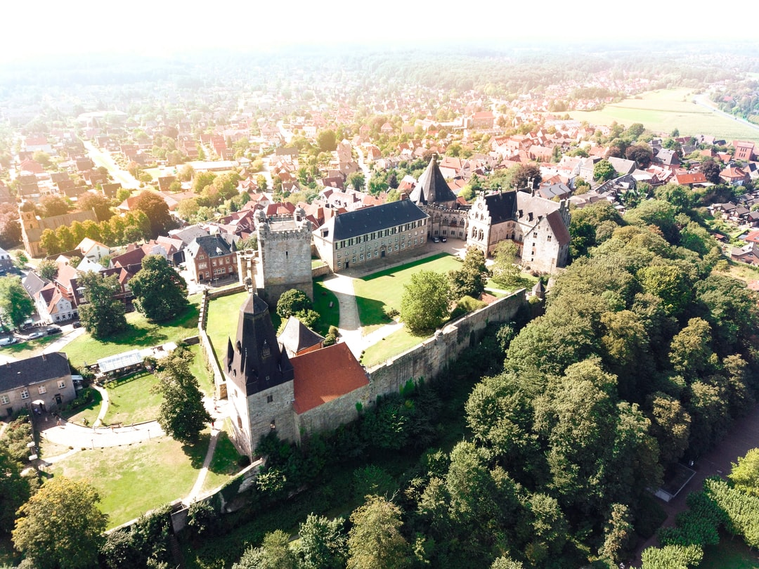 Drone photo of Castle