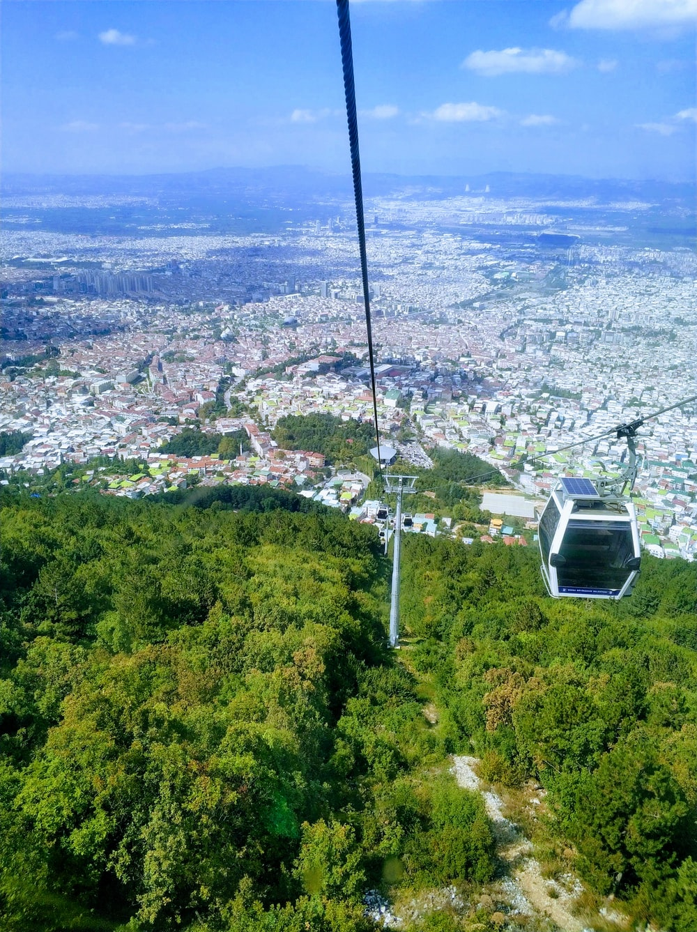 white cable car
