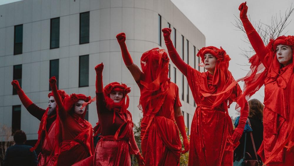 women's red costume