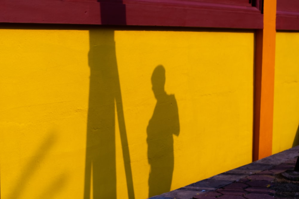 yellow concrete wall