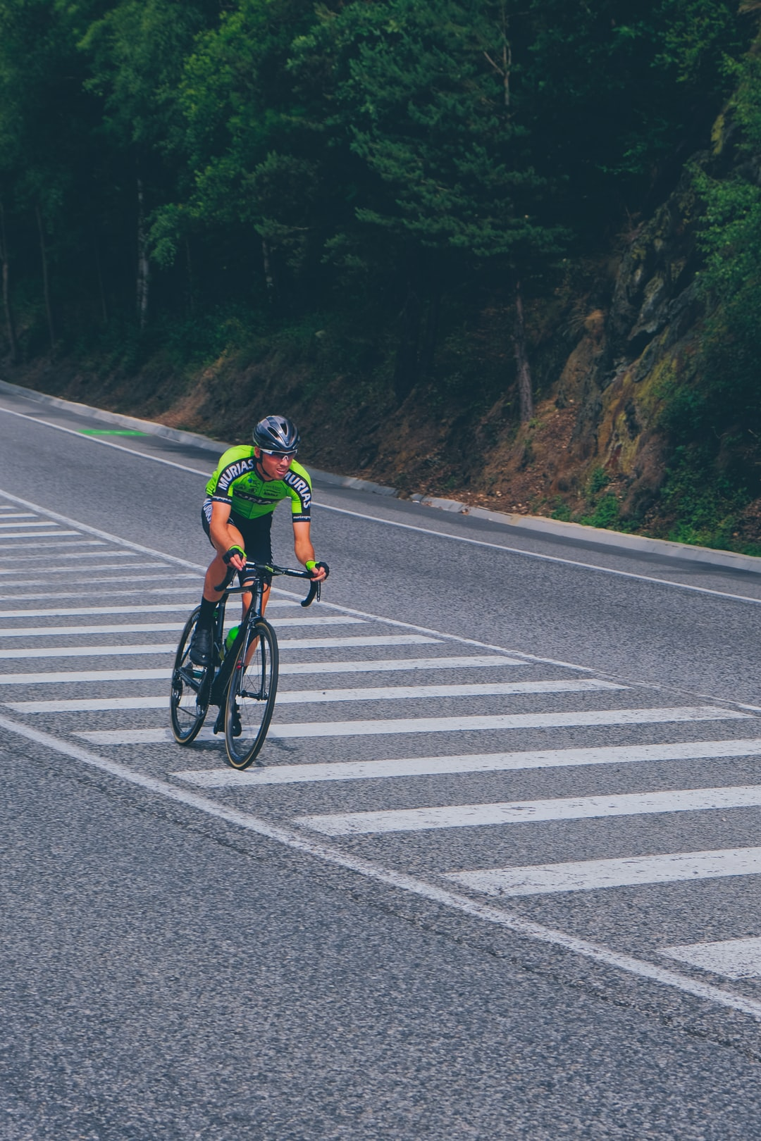 Cyril Barthe competing at the Stage 9 of La Vuelta 2019, in Andorra.