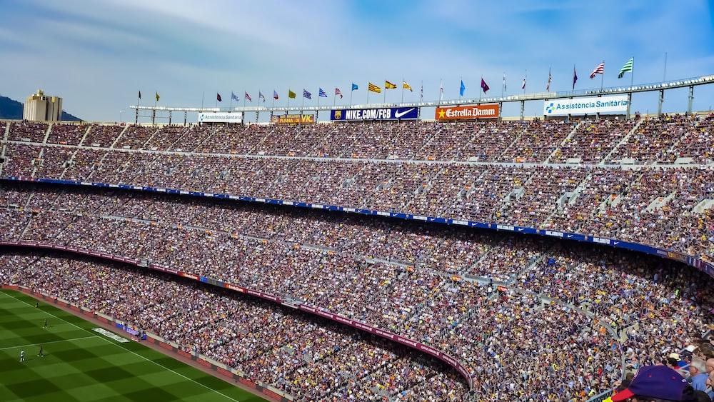 people on stadium watching soccer game