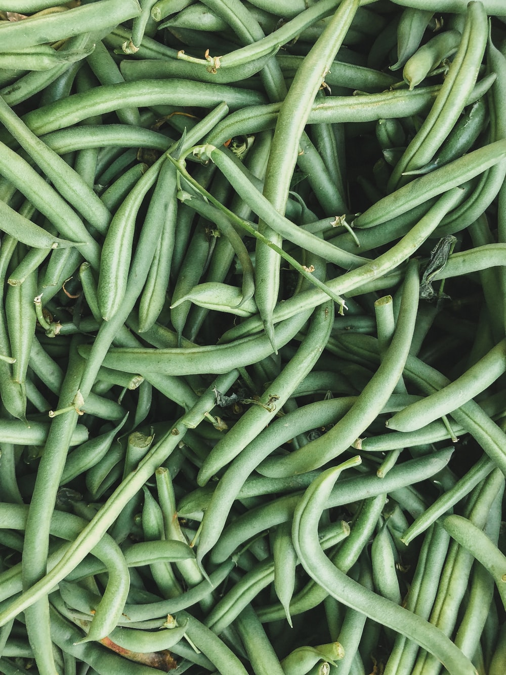 pile of green string beans