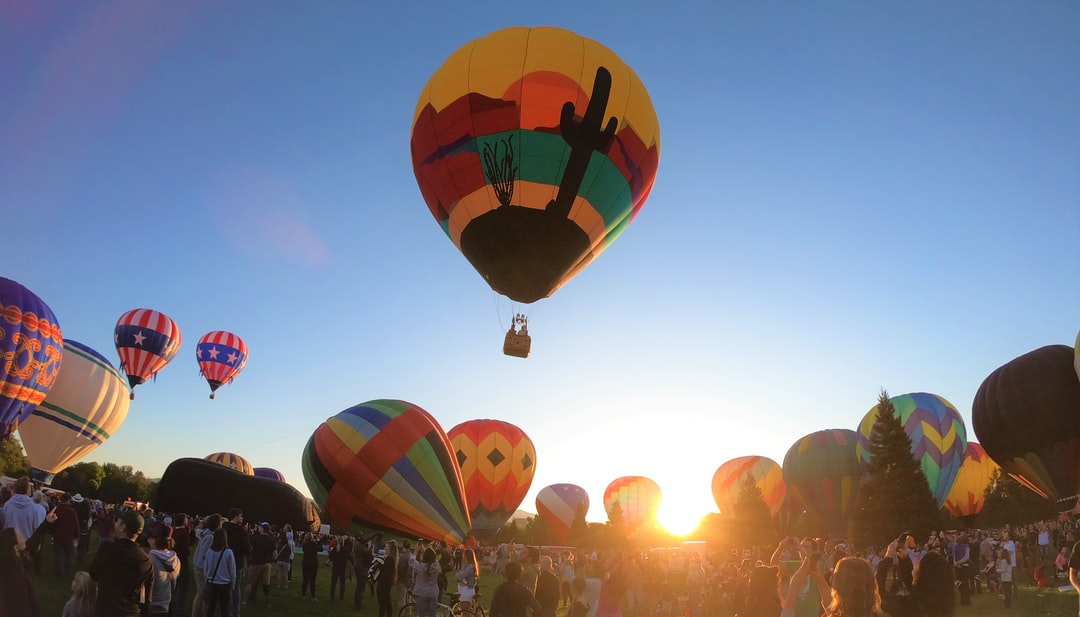 Balloons taking flight in the early morning in Boise.